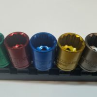 Metric Sockets 10pc Colored