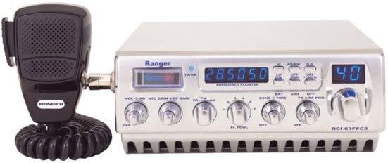 RANGER BIG POWER CHROME 10 METER RADIO